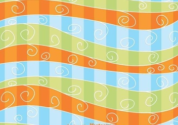 Swirly Wave Background - vector gratuit #361937