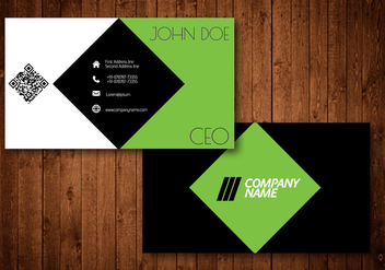 Green Diamond Creative Business Card - бесплатный vector #361977