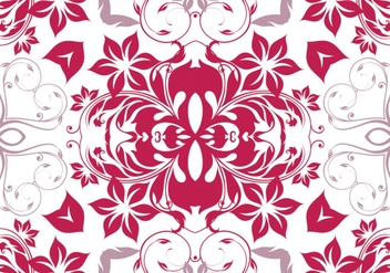 Seamless Magenta Floral Pattern - Free vector #361987