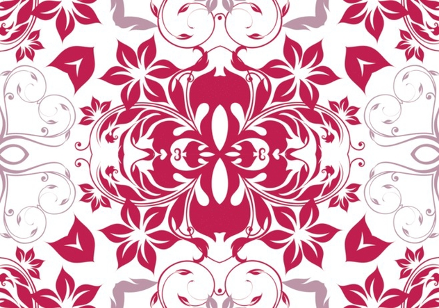 Seamless Magenta Floral Pattern - Kostenloses vector #361987