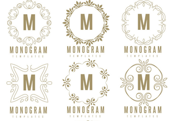 Monogram Template Set - vector gratuit #362097