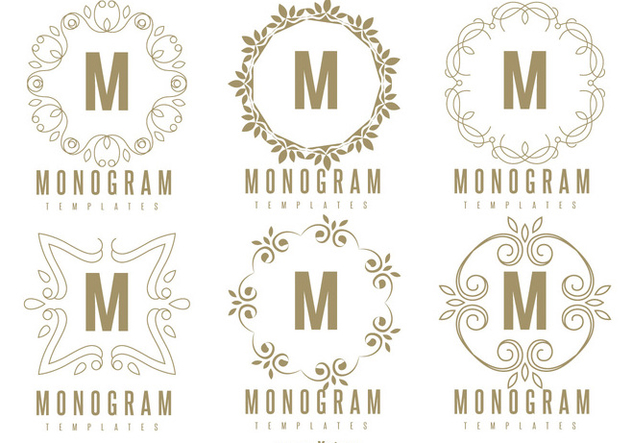 Monogram Template Set - бесплатный vector #362097