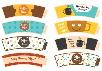 Coffee Sleeve Sticker - бесплатный vector #362147