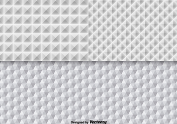 White Geometric Seamless Pattern Vectors - Free vector #362157
