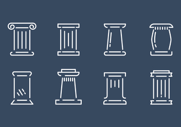 Free Roman Pillar Vector Set - Kostenloses vector #362177
