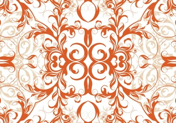 Red Seamless Floral Background - vector gratuit #362207