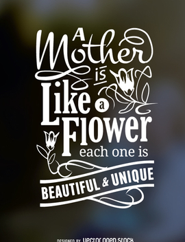 Mother's Day typographic poster - vector gratuit #362347