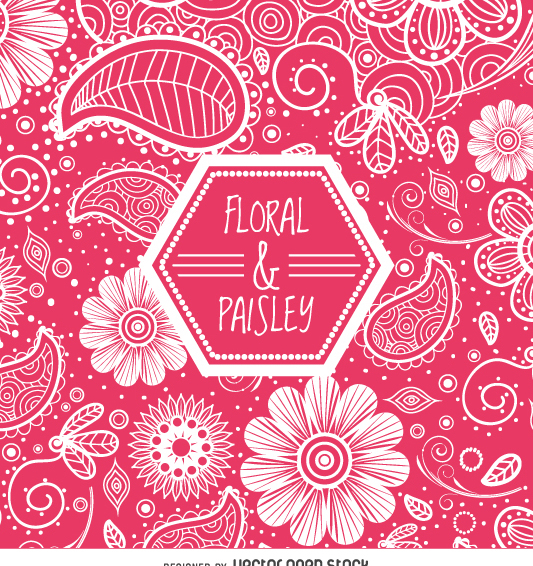 Pink floral swirl background - Kostenloses vector #362357