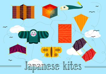 Free Japanese Kites Vector - Kostenloses vector #362437