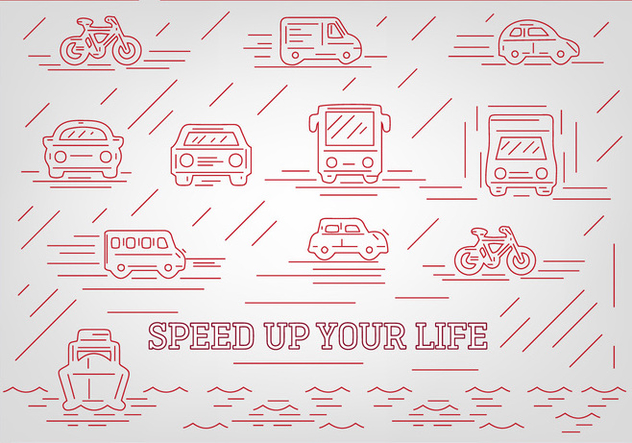 Free Abstract Vehicle Vector Icons - vector gratuit #362467