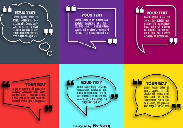 Vector Quote Speech Bubble Set - vector #362527 gratis