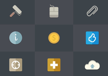 Free Flat Icon Set 03 Vector - vector #362547 gratis