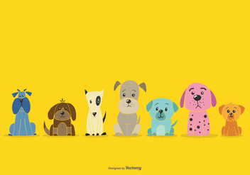 National Pet Week Dog Vectors - Free vector #362597