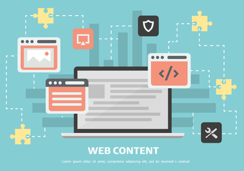 Free Web Content Vector Background - vector gratuit #362637