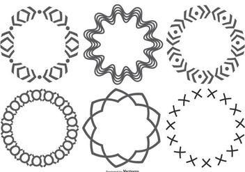 Decorative Circle Shapes - vector gratuit #362687
