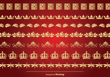 Elegant Gold Border Set - vector #362697 gratis
