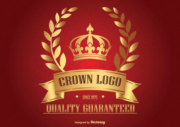 Golden Crown Logo - Kostenloses vector #362707