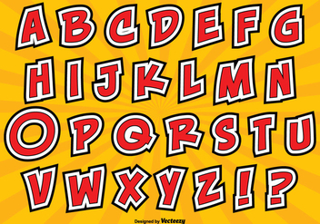 Comic Style Alphabet Set - vector gratuit #362717
