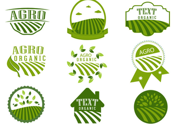 Simple Agro Symbol Logo Design Vectors - vector #362847 gratis