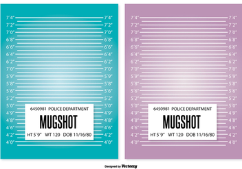 Mugshot Background Template - vector gratuit #362877