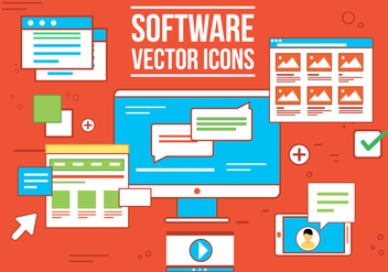 Free Vecor Software Icons - vector gratuit #362887