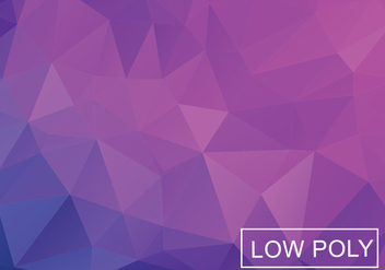 Purple Low Poly Background - vector gratuit #362957
