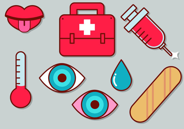 Cute Medical Icon Set 2 - Free vector #363037