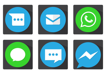 Message Vector Icons - Free vector #363157