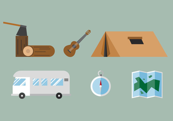 Vector Camping Stuff - Free vector #363167