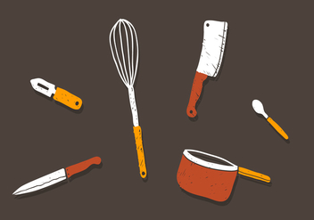 Vector Kitchen Utensils - Free vector #363177