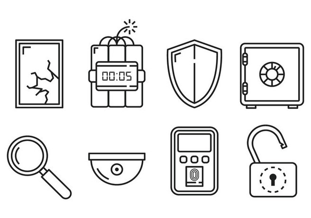 Security Linear Icon Vectors - Free vector #363197