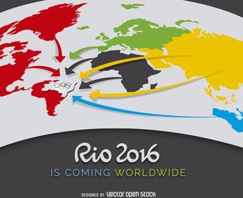 Rio 2016 advertising poster - vector #363247 gratis