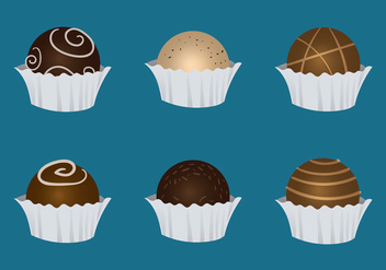 Free Truffles Vector Illustration - бесплатный vector #363317