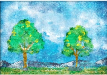 Free Vector Watercolor Landscape - Free vector #363387