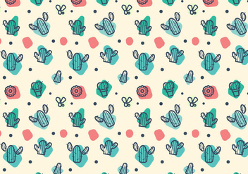 Free Cacti Pattern Vector - Free vector #363427