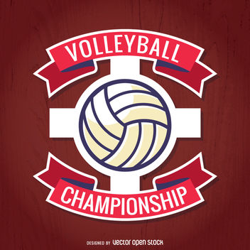 Red volleyball championship vector - Free vector #363437