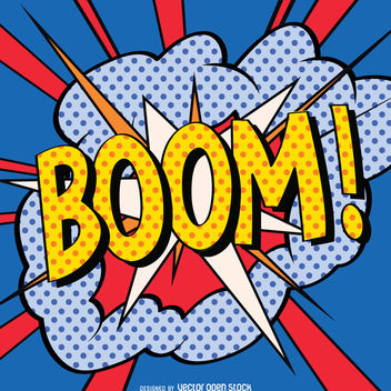 BOOM sign in comic style - vector #363517 gratis