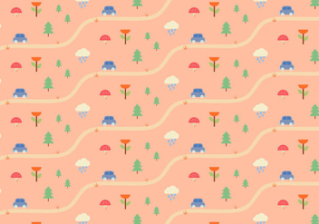 Nature Landscape Pattern - vector gratuit #363547