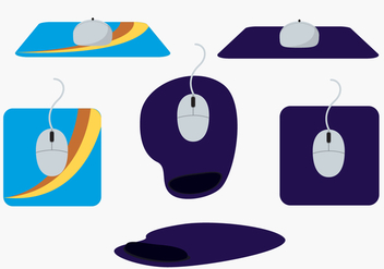 Mouse Pad Vector Set - бесплатный vector #363867