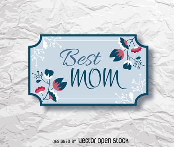 Mother's Day floral gift tag - vector #363947 gratis