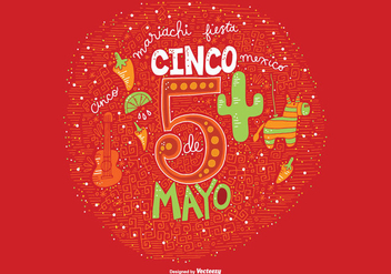 Hand Drawn Cinco De Mayo Vector - Free vector #363977