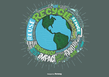 Environmental Earth and Quote Vector - Free vector #363987