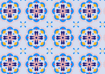 Floral Mosaic Pattern - Kostenloses vector #364067