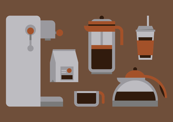 Vector Coffee Set - vector gratuit #364107