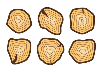 Free Tree Rings Vector Illustration #2 - Kostenloses vector #364187