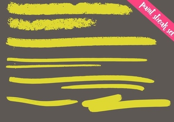 Paint Streak Vector Set - Colorful - Free vector #364307