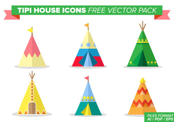 Tipi House Icons Free Vector Pack - Kostenloses vector #364567