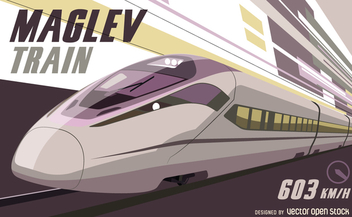 Maglev train vector - бесплатный vector #364647