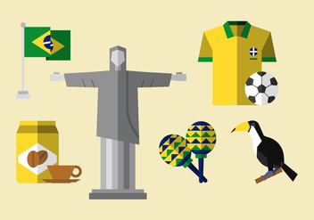 Vector Brasil Icon Set - бесплатный vector #364677