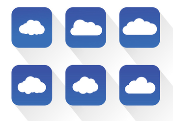 Cloud Icon Vectors - Free vector #364707